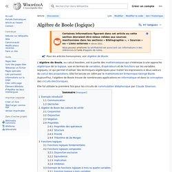 Algèbre de Boole (logique)