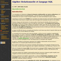 Cours SQL et Algebre Relationnelle - D. BOULLE