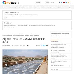 Algeria installed 268MW of solar in 2015