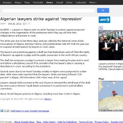 Algerian lawyers strike against 'repression'