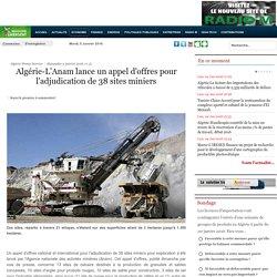 Algérie-L'Anam lance un appel d'offres pour l'adjudication de 38 sites miniers
