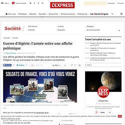 Guerre d'Algérie: l'armée retire une affiche polémique