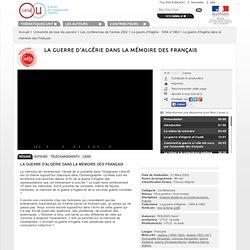 La guerre d'Algérie dans la mémoire des Français