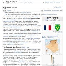 L'Algérie française