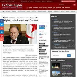 L'Algérie, entre le marteau et l'enclume