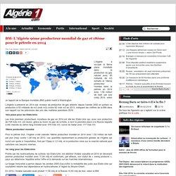 BM: L'Algérie 9ème producteur mondial de gaz et 18ème pour le pétrole en 2014