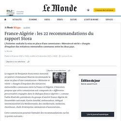 France-Algérie: les 22recommandations du rapport Stora