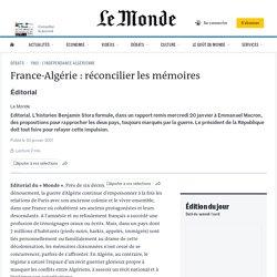 France-Algérie: réconcilier les mémoires