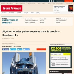 20/01/2016 Sonatrach 1 lourdes peines requises