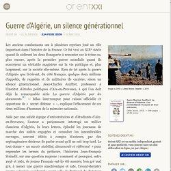 Guerre d'Algérie, un silence générationnel