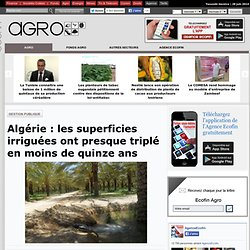 Algérie : les superficies irriguées ont presque triplé en moins de quinze ans