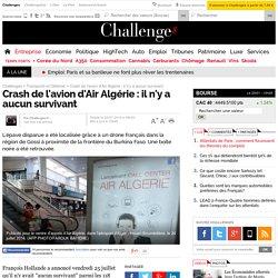Crash de l'avion d'Air Algérie : il n'y a aucun survivant - 25 juillet 2014 - Challenges