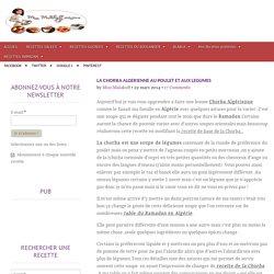 Chorba algérienne au poulet et aux légumes