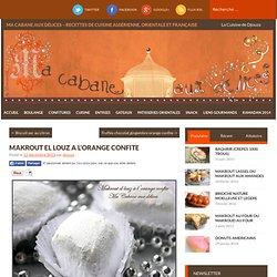 Makrout el louz a l'orange / gateau algerien 2013