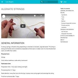 ALGINATE STRINGS - Loes Bogers