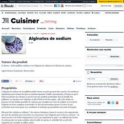 Alginate de sodium - E 401 - Additif texturant pour faire des perles d'alginates