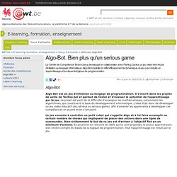 Algo-Bot. Bien plus qu'un serious game