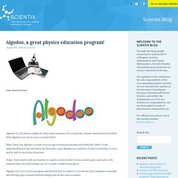Algodoo, a great physics education program! « Scientix blog