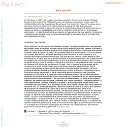 Blog à part Cyrulnik