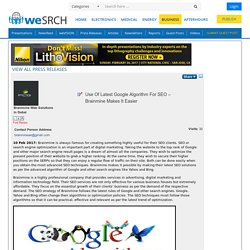 Use Of Latest Google Algorithm For SEO Brainmine Makes It Easier, Business - weSRCH