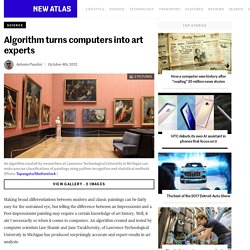 Algorithm turns computers into art experts