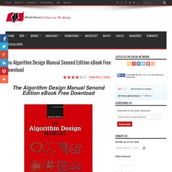 The Algorithm Design Manual Senond Edition eBook Free Download - eBook-Daraz