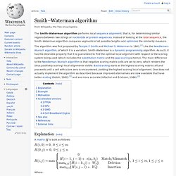 Smith–Waterman algorithm