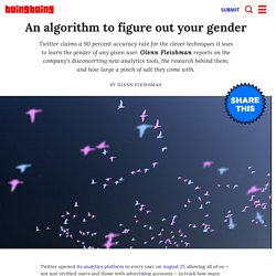 An algorithm to figure out your gender