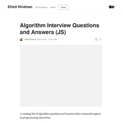Algorithm Interview Questions and Answers (JS)