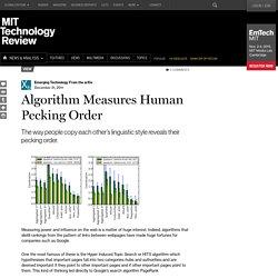 Algorithm Measures Human Pecking Order