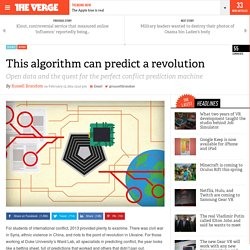 This algorithm can predict a revolution
