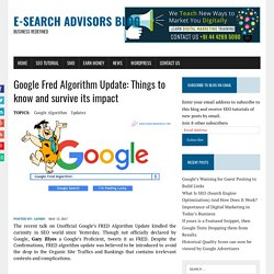 Google Fred Algorithm Update: Things to know and survive its impact - E-Search Advisors Blog