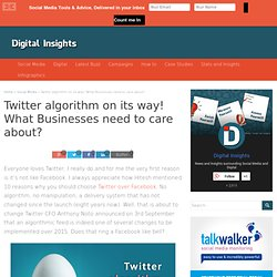 How new Twitter algorithm for timeline may affect businesses?