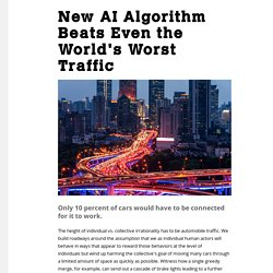 New AI Algorithm Beats Even the World's Worst Traffic - Motherboard