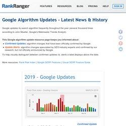 Google Algorithm Updates - Latest News & History