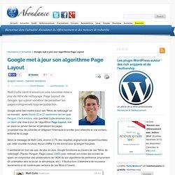 Google met à jour son algorithme Page Layout