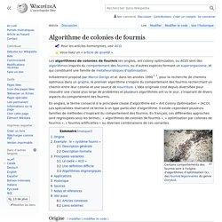 Algorithme de colonies de fourmis