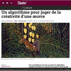Un algorithme pour juger de la créativité d'une œuvre