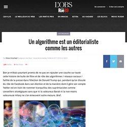 Un algorithme est un éditorialiste comme les autres