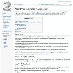 Algorithme espérance-maximisation