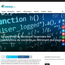 L'algorithme de Facebook et les publications de pages