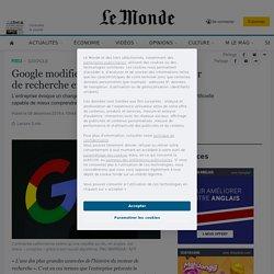 Google modifie l'algorithme de son moteur derecherche en français