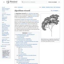 Algorithme récursif