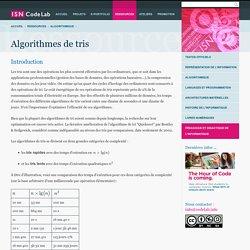 Algorithmes de tris