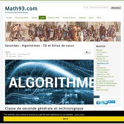Algorithmes en 2nd