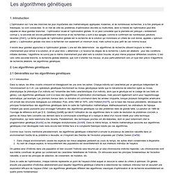 Algorithmes génétiques - A525G