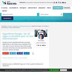SEO : les 19 algorithmes de Google à connaître à tout prix