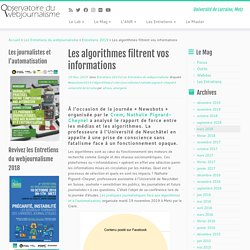Les algorithmes filtrent vos informations - Obsweb