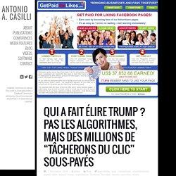 """Qui a fait élire Trump ? Pas les algorithmes, mais des millions de """"tâcherons du clic"""" sous-payés"""