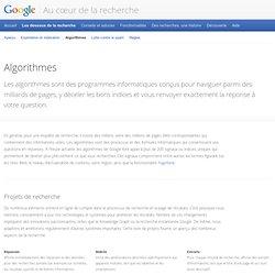 Algorithmes – Au cœur de la recherche